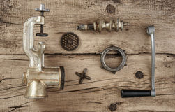Old manual meat grinder Stock Photos