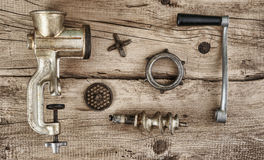 Old manual meat grinder Royalty Free Stock Photo