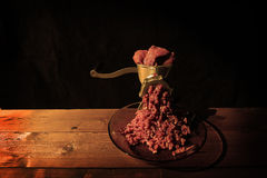 Old manual meat grinder Stock Image