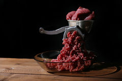 Old manual meat grinder Royalty Free Stock Photos
