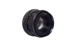 Old manual 50mm lens isolated Stock Photo