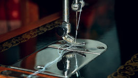 The old manual sewing machine Stock Image