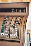 Old manual vintage cash register Stock Photo