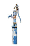 Old manual water pump isolated on white Royalty Free Stock Photography