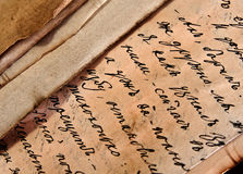 Old manuscript. Codex on the yellowed paper Royalty Free Stock Images