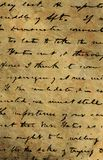 Old manuscript. Beautiful image of an old manuscript Stock Photo