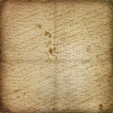 Old manuscript on the alienated paper Royalty Free Stock Photography