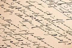 Old manuscript with vintage handwriting Royalty Free Stock Photo