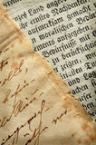 Old manuscripts Stock Images