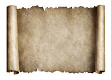 Old manusript scroll or parchment royalty free stock images