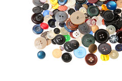Old Many Buttons In Heap Stock Photo
