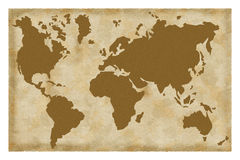 Old map. Of the world vector illustration