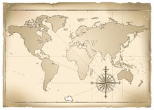 Old Map vector illustration