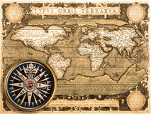 Old map (1587) Royalty Free Stock Images
