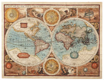 Old map (1626). A new and accvrat map of the world Royalty Free Stock Image