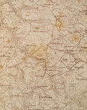 Old map. Old German tourist map on white background Stock Photography