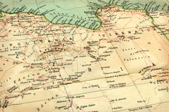 Old map (1929) of Libya Royalty Free Stock Image