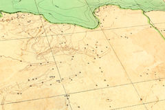 Old map (1929) of Libya Stock Images