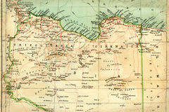 Old map (1929) of Libya Royalty Free Stock Photography