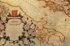 Old map. Of the pirates' treasure Stock Photo