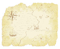 Old Map. Battered and faded old map vector illustration stock illustration