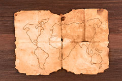 Old map Royalty Free Stock Photos