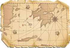 Old map. Vector illustration - old map background royalty free illustration