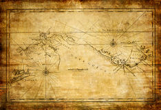 Old map. Ancient old map (from my vintage collection royalty free illustration
