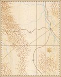 Old map. Editable illustration of an old generic map with no names vector illustration