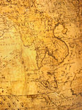 Old map. With far east on it royalty free stock photography