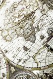 Old map. Map is a drawing or plan of the surface of the earth that shows countries, mountains, roads, etc Royalty Free Stock Photos