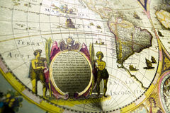 Old map. Map is a drawing or plan of the surface of the earth that shows countries, mountains, roads, etc Stock Photos