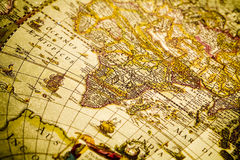 Old map. Map is a drawing or plan of the surface of the earth that shows countries, mountains, roads, etc Stock Images