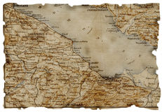 Old map Stock Photography