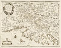 Old map of Adriatic sea. 1 Royalty Free Stock Photography