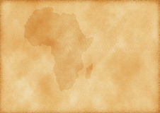 Old map of Africa Stock Photos