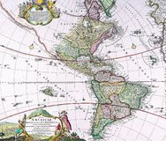 Old map of America Royalty Free Stock Photography