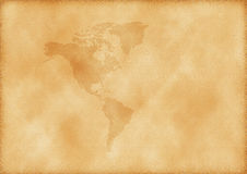 Old map of America Royalty Free Stock Images