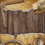 Old map background with compass. Adventure and travel concept. Stock Images