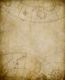 Old map background with copyspace Royalty Free Stock Photography