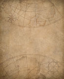 Old map background with copyspace in center Royalty Free Stock Images
