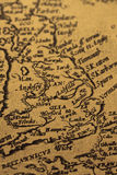 Old map of Britain. Photograph of a medieval map of Britain royalty free stock photos