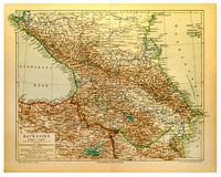 Old map of Caucasus Royalty Free Stock Images