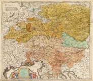 Old map of central Europe Royalty Free Stock Image