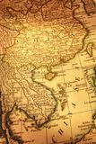 Old Map of China and Indochina. Ancient map of China and Indochina. Focus is on Gulf of Tonkin. Map is from 1799 and is out of copyright royalty free stock photography