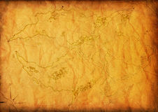 Old map with a compass Stock Photography