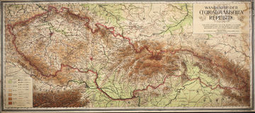 old map of czech and slovak republic Stock Photography