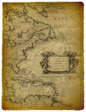 Old Map Of The Eastern Coast Of USA Stock Photos