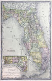Old Map of Florida Royalty Free Stock Image