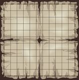 Old map with grid. Old damaged map with grid. Vector illustration Royalty Free Stock Photo